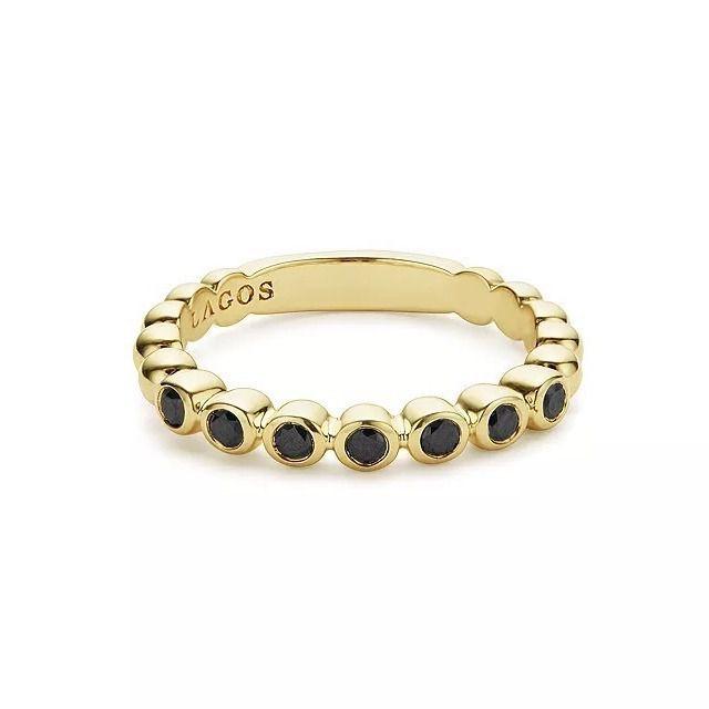 Lagos Gold and Black Diamond Ring