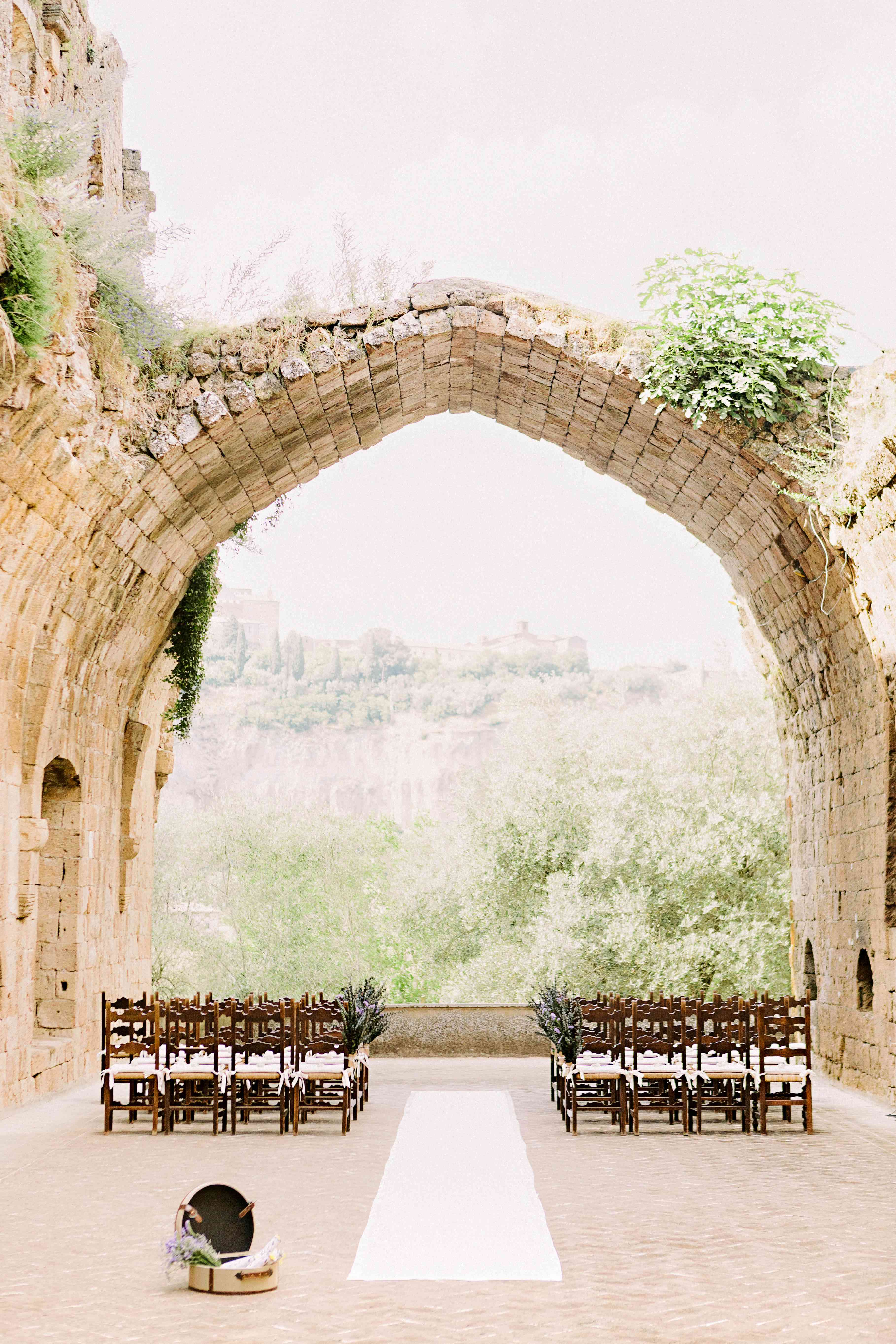 Rustic Italian wedding ceremony