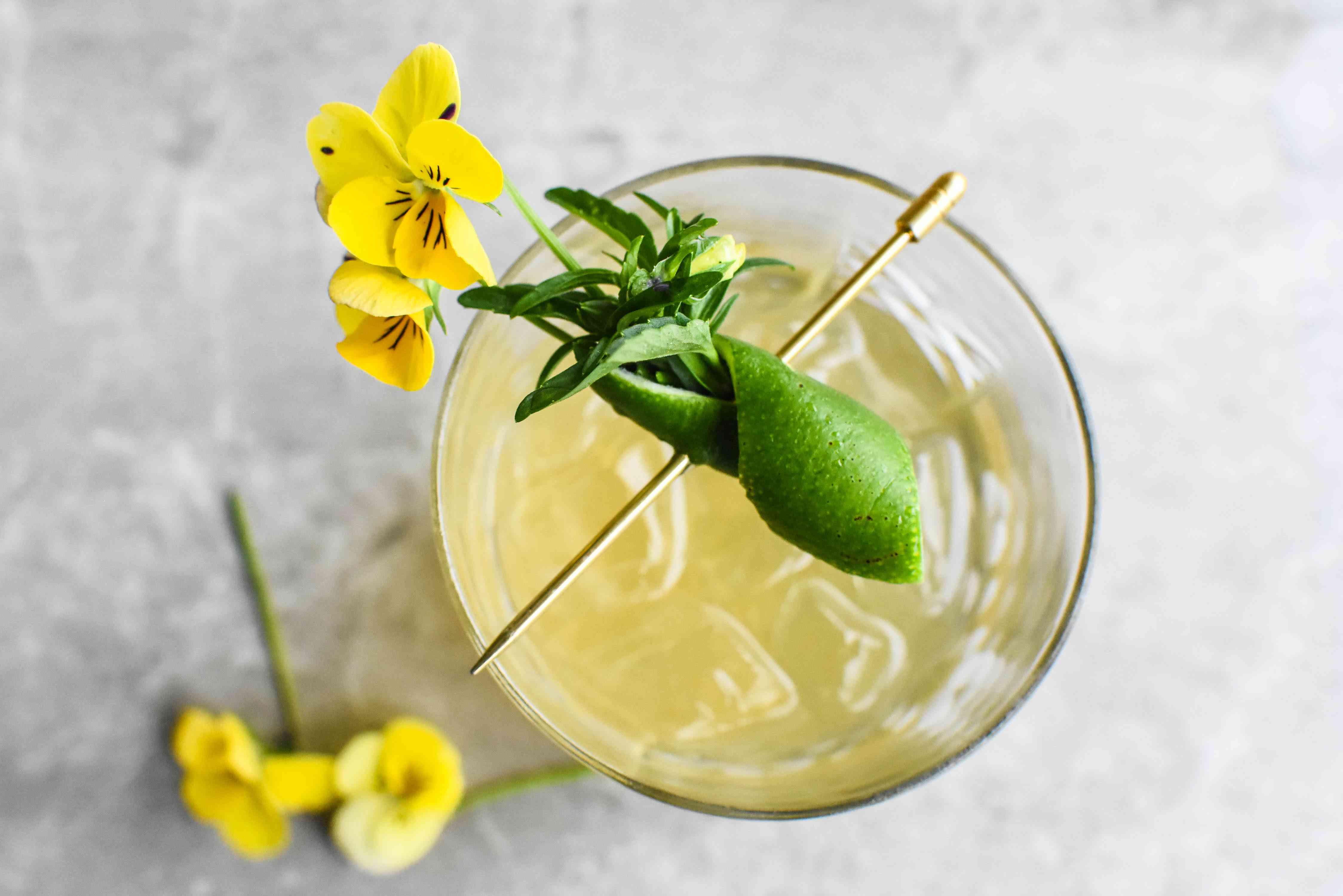 Beautiful Booze summer bouquet cocktail