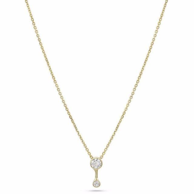 White Space Duo Diamond Necklace