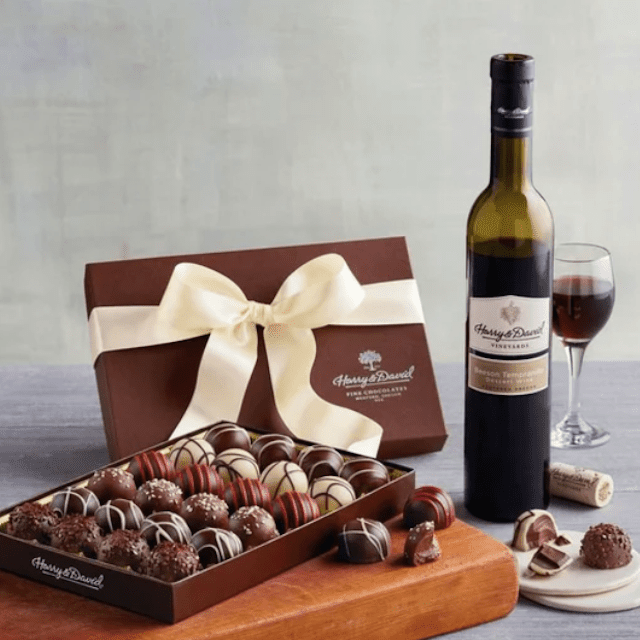 Harry And David Truffles And Wine Gift Set