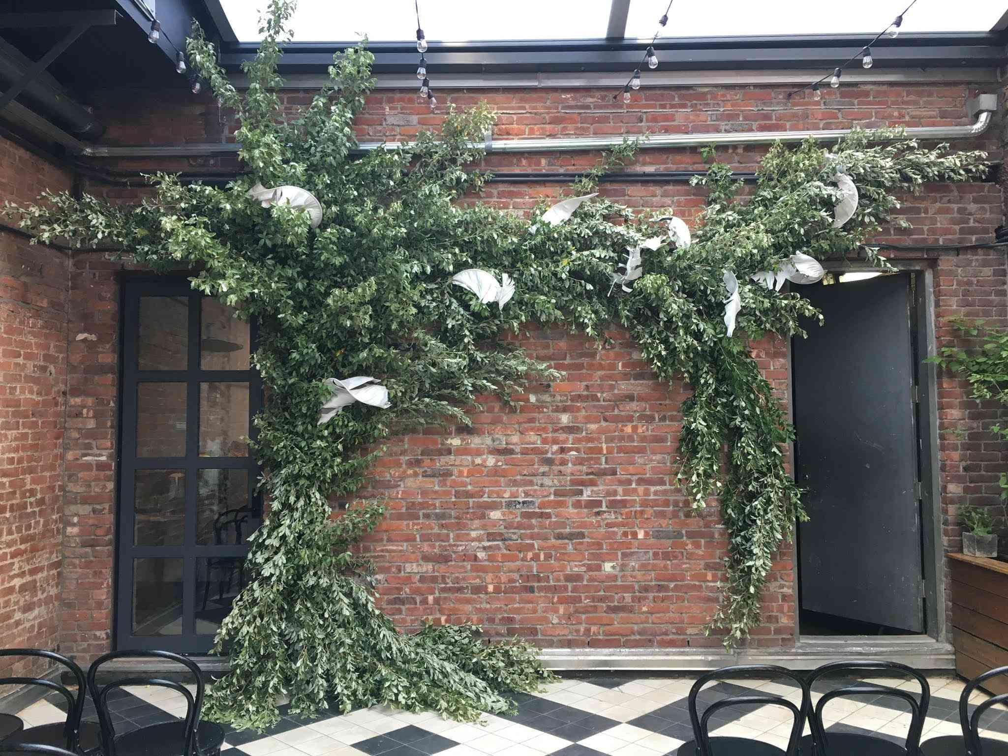 Asymmetric floral arch
