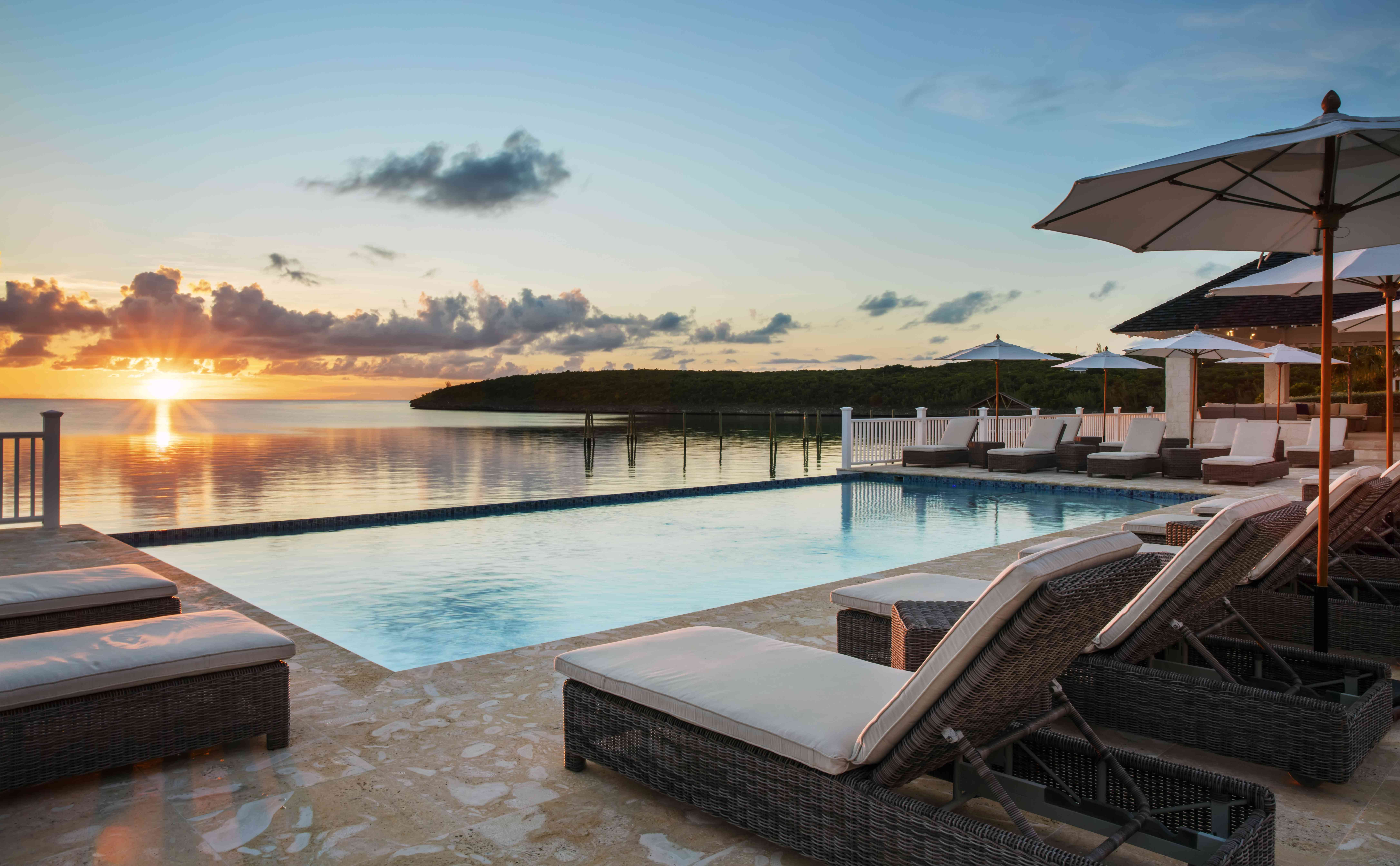 The pool at French Leave Eleuthera, a resort on Eleuthera, Bahamas