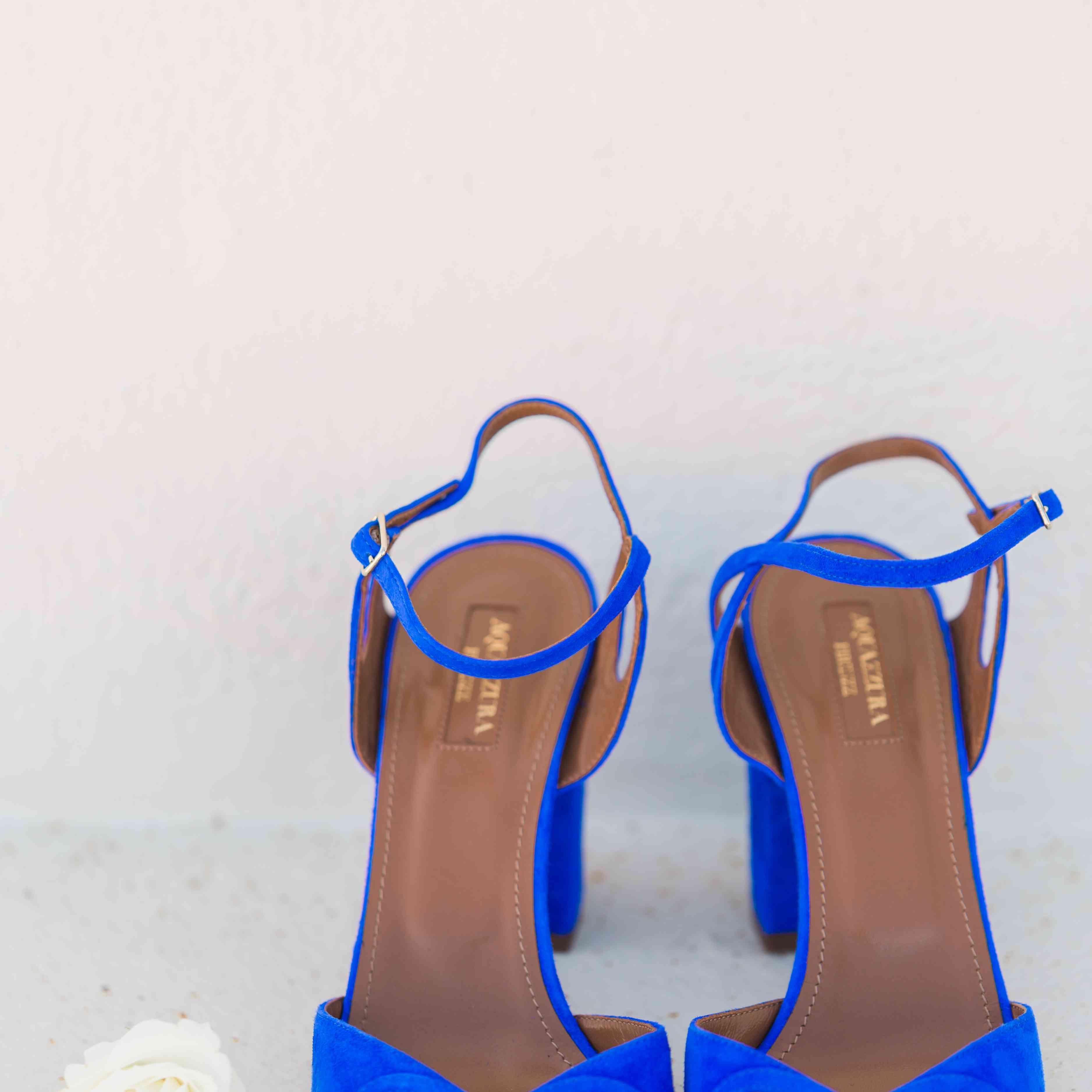blue wedding shoes