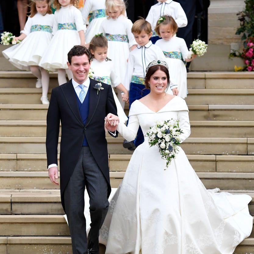 Princess Eugenie with husband on wedding day