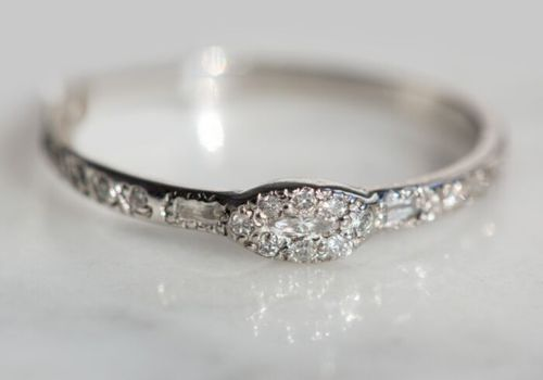 Small intricate engagement ring