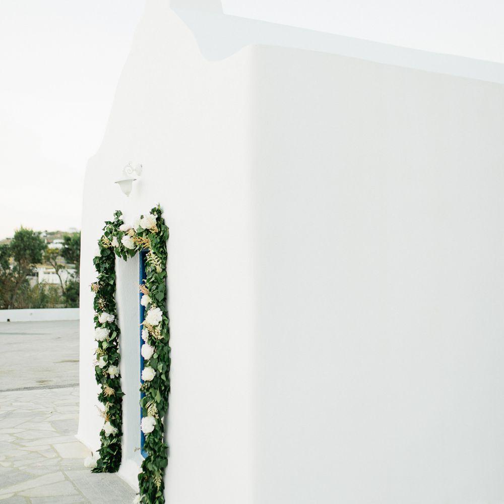 white washed greek orthodox church