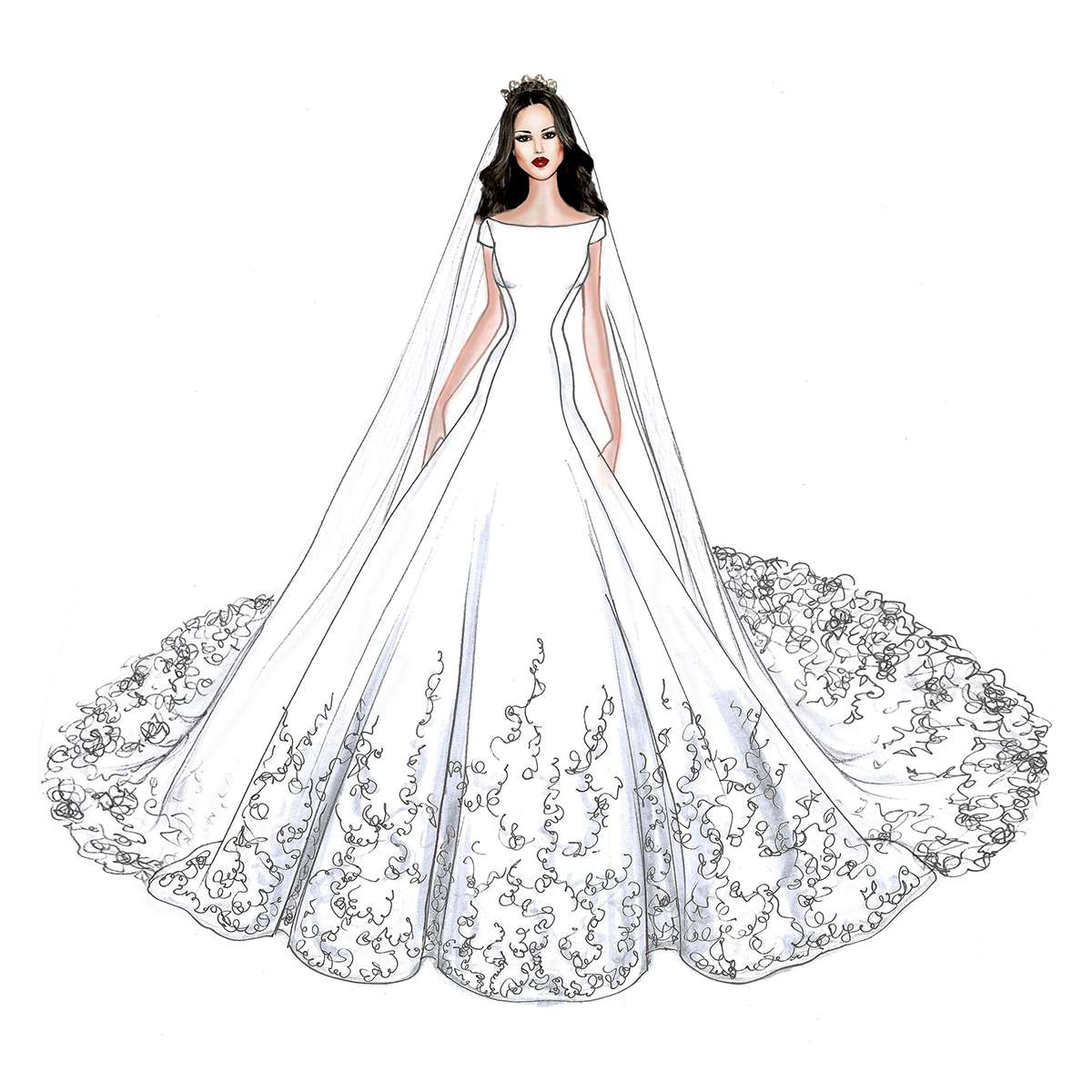 Design A Wedding Dress.Meghan Markle S Wedding Dress Will Look Like This According