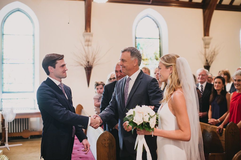 <p>father giving the bride away</p><br><br>