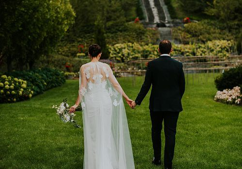 <p>Bride and Groom at Wedding Venue</p>