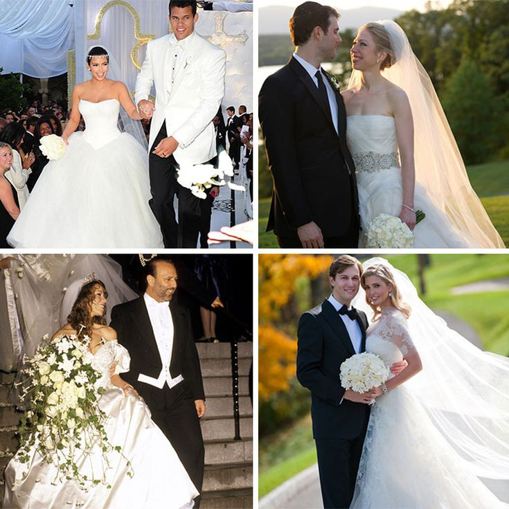 10 Celebrities Who Wore Vera Wang On Their Wedding Day