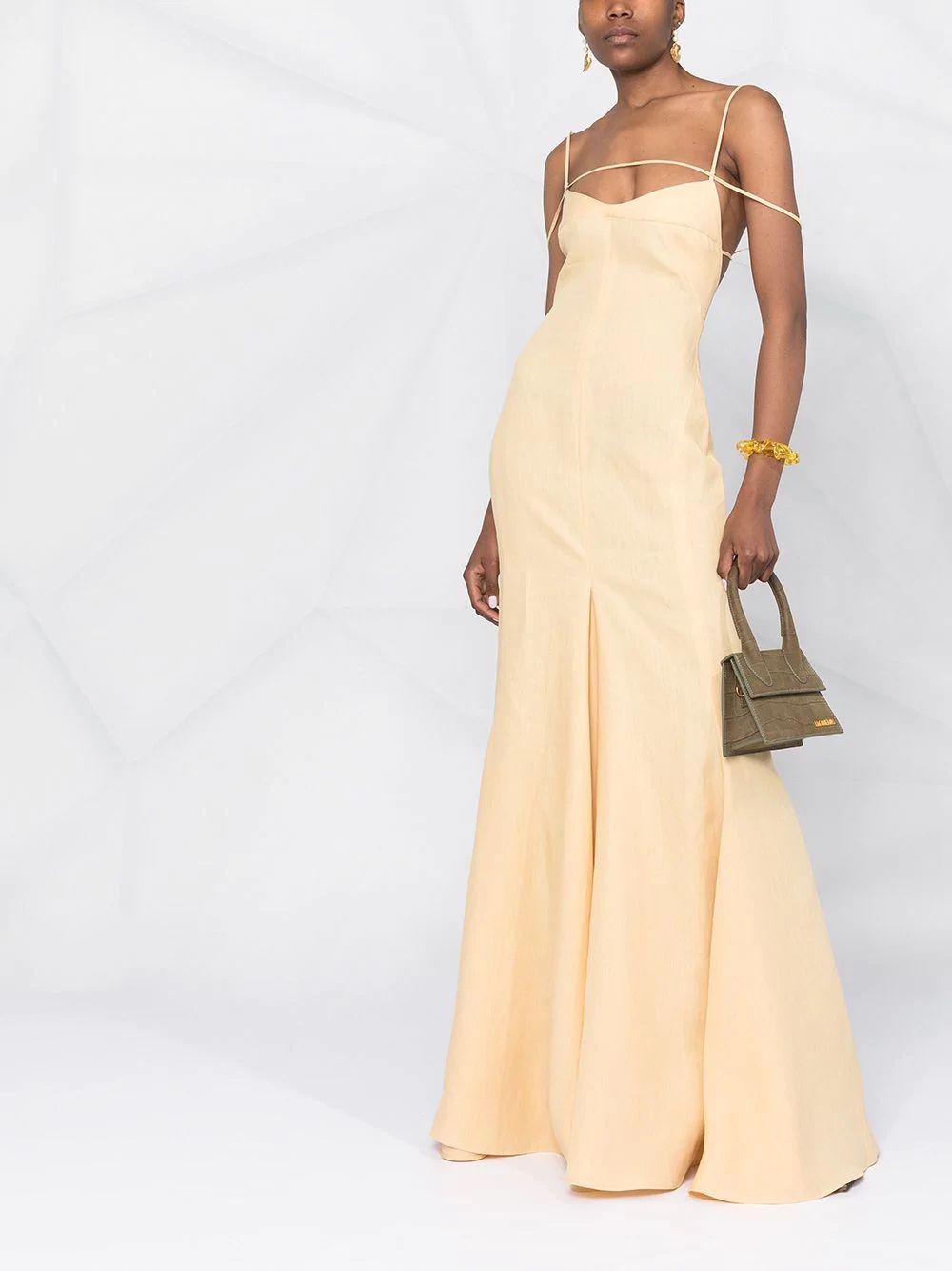 Jacquemus strap-detail flared dress