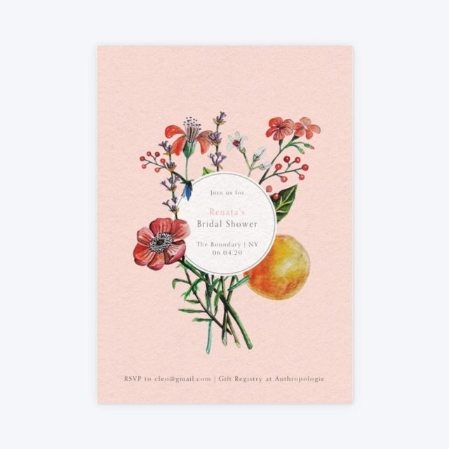 Papier Wild Flowers Bridal Shower Invitation