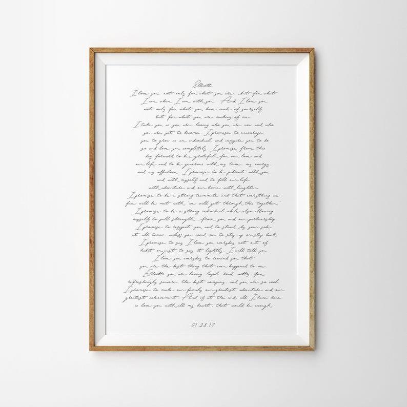 Wedding Vows Art Print Poster