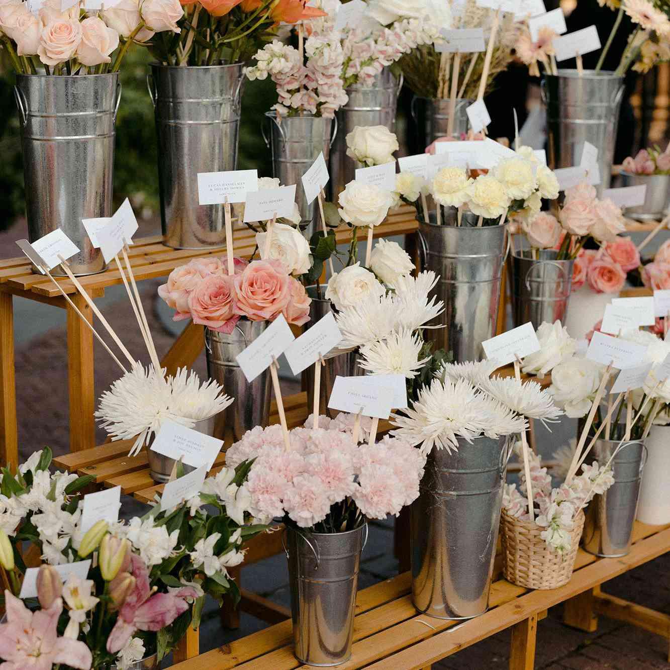 Floral Escort Card Display