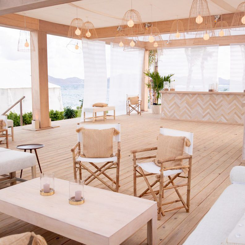 Wedding reception with neutral color palette