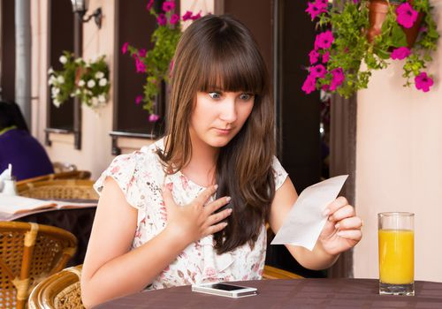 Woman shocked at amount on bill