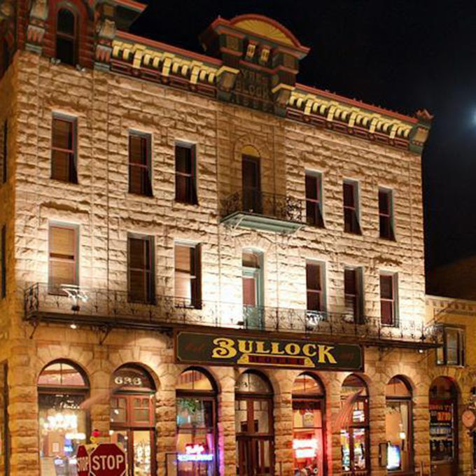 It's hard to find a spot more appropriate for a haunted wedding than the first hotel in a town called Deadwood. The town, founded by prospectors and pioneers, is one of the only in the U.S. to be named a National Historic Landmark, and its early residents — many of whom reside in the Bullock Hotel — couldn't be prouder. Ghosts of the hotel include the Deadwood's first sheriff, who died in room 211, and the hotel's original owner Seth Bullock. Guests have reported seeing both men in the hallways and a slew of odd incidences: unplugged alarm clocks going off, antique clocks that haven't been working for years suddenly chiming, and televisions turning on by themselves