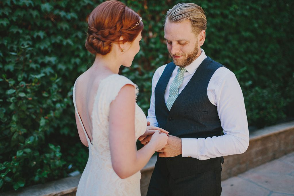 bride with side bun hairstyle