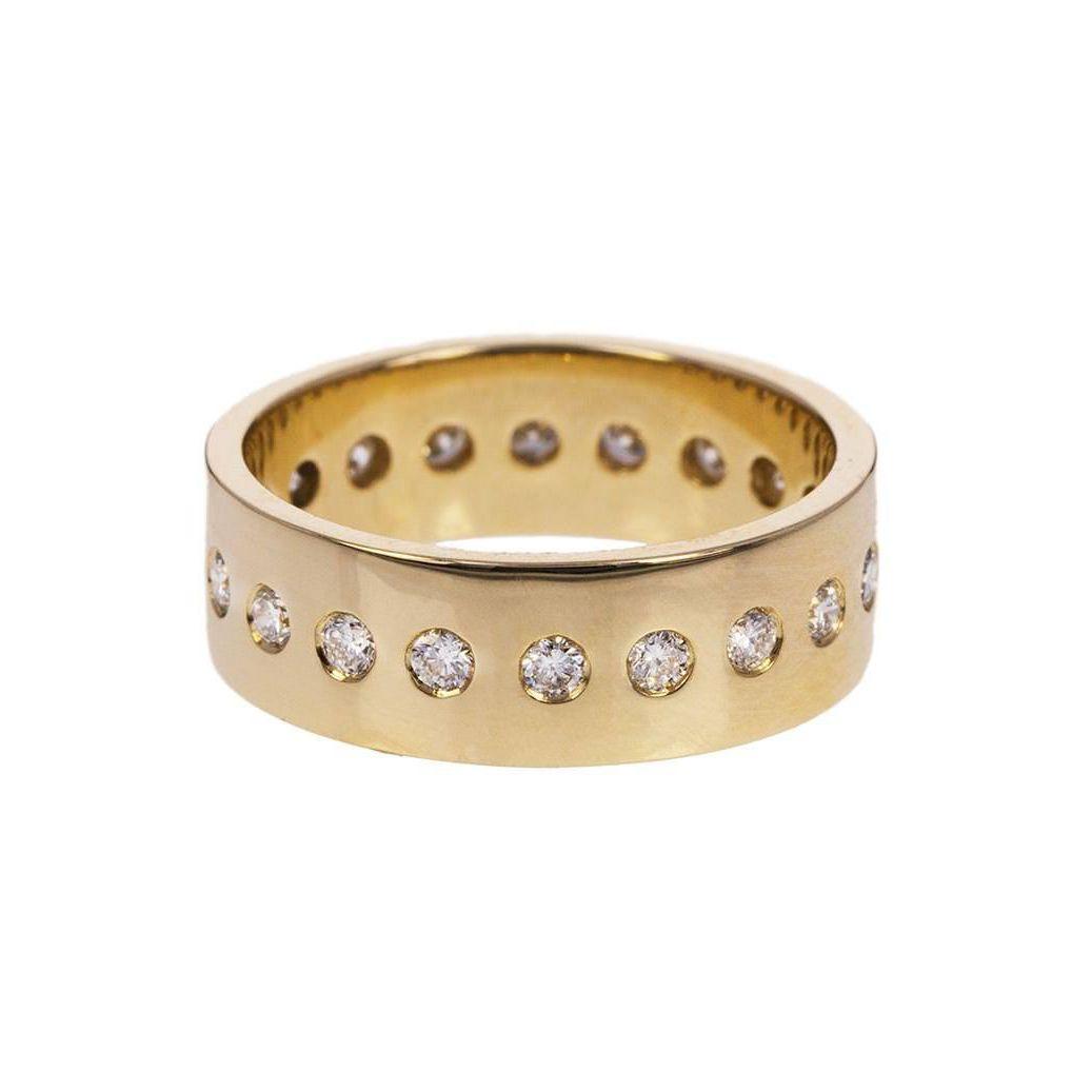 Nancy Newberg Yellow Gold Diamond Dotted Band