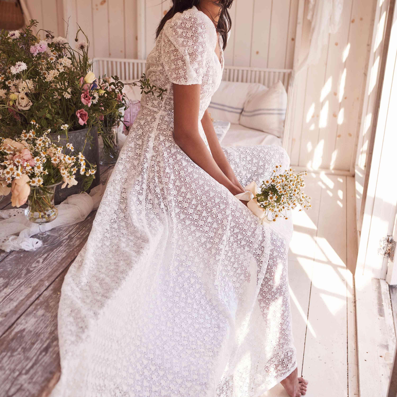 semi sheer dress