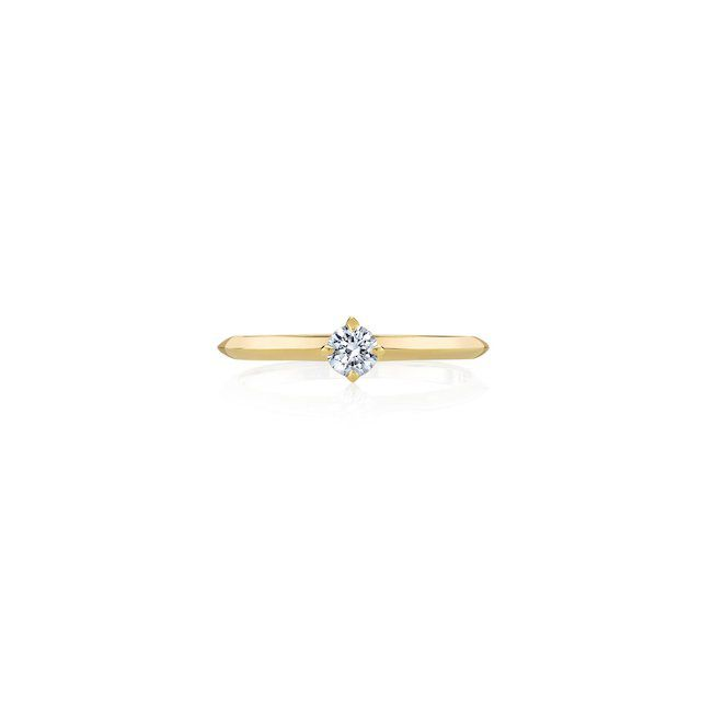 Lizzie Mandler Petite Knife Edge Solitaire Ring