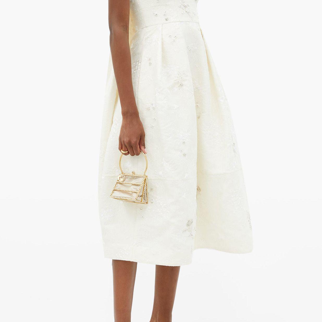 strapless embellished dress