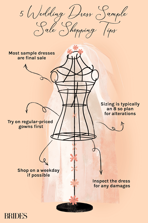 wedding dress sample sale tips