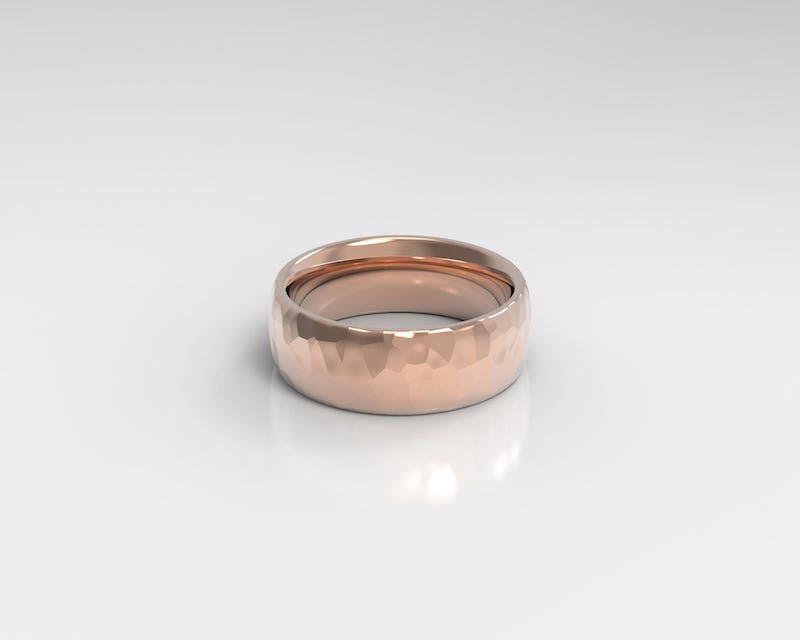 Holden Hammered Wedding Ring