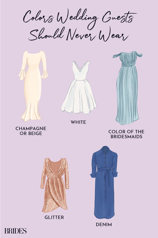 Colors Wedding Guests Should Never Wear