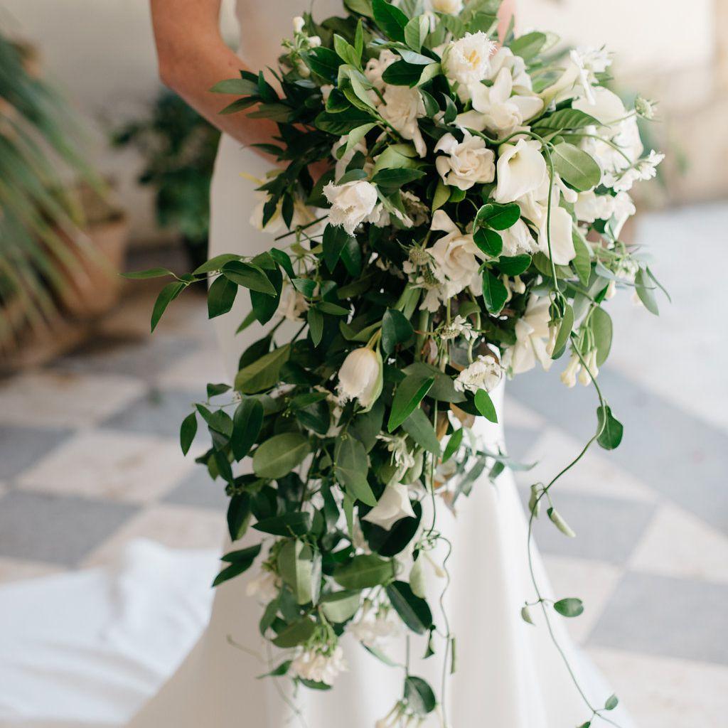 Bride's bouquet, white flowers