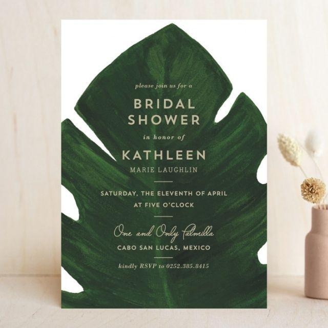 Minted Palm Bridal Shower Invitation
