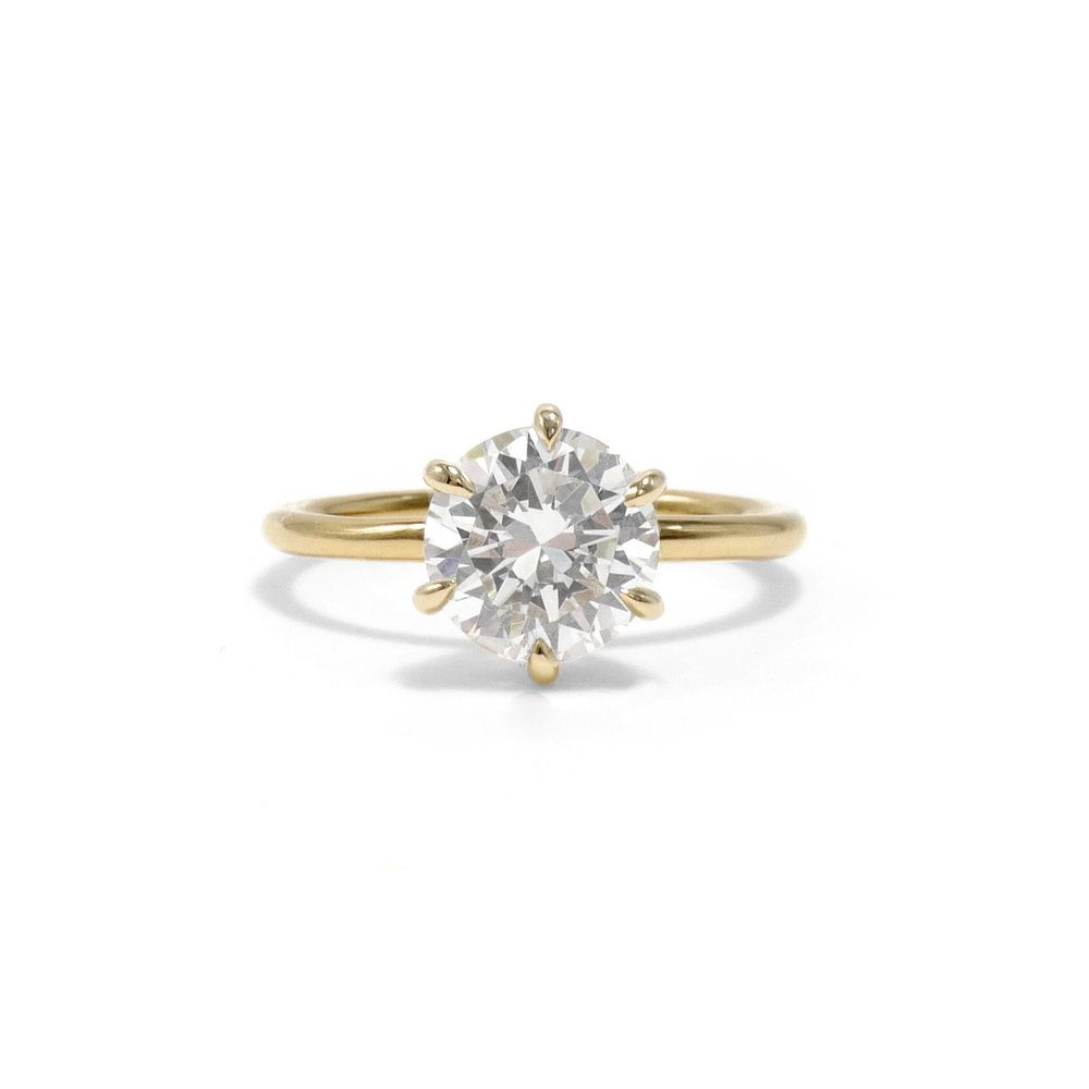Ashley Zhang Victoria Brilliant Cut Engagement Ring