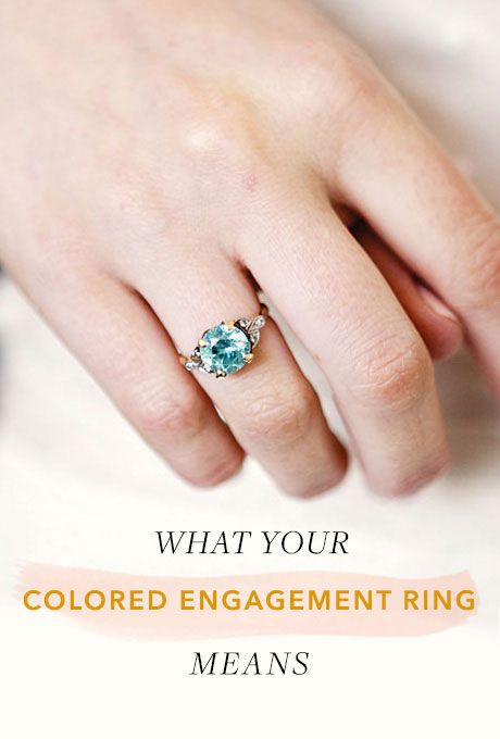 What Your Colored Engagement Ring Really Means