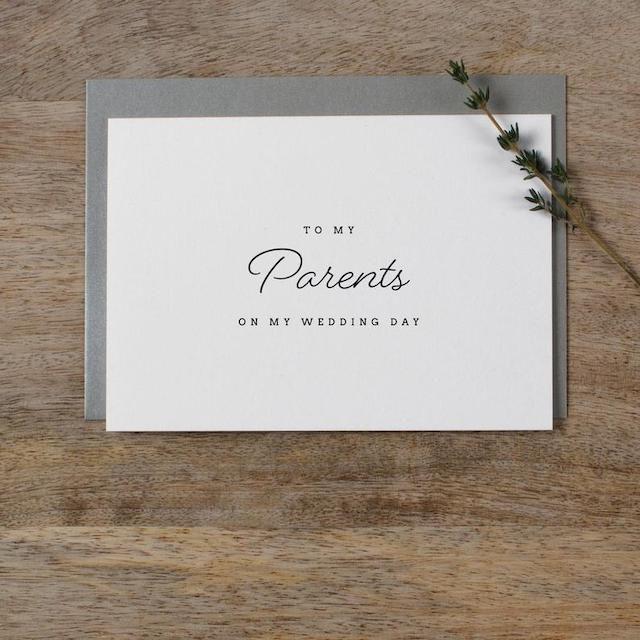 Kismet Weddings Co Wedding Card to My Parents
