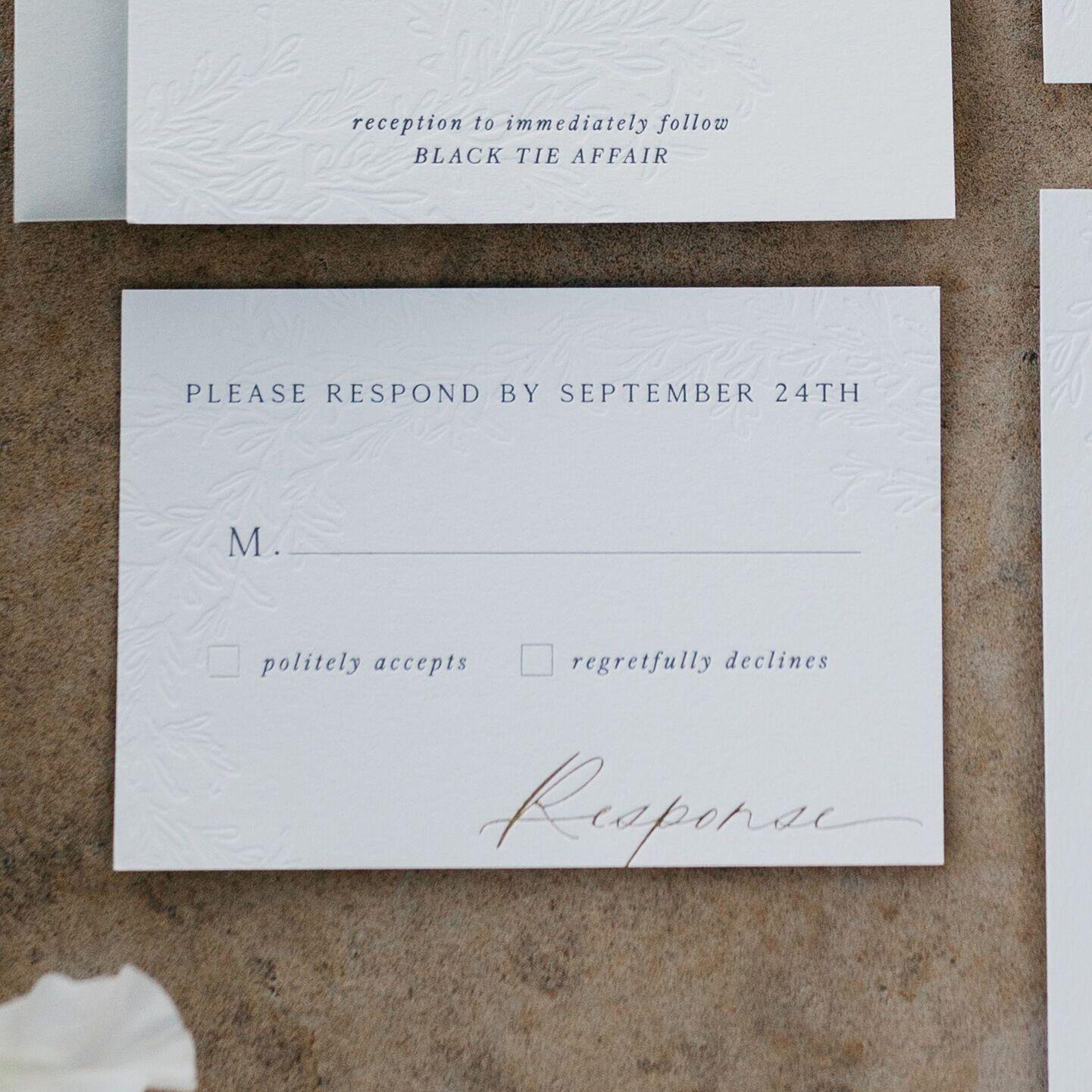 Add-On Modern and Minimalist Wedding Reply Card