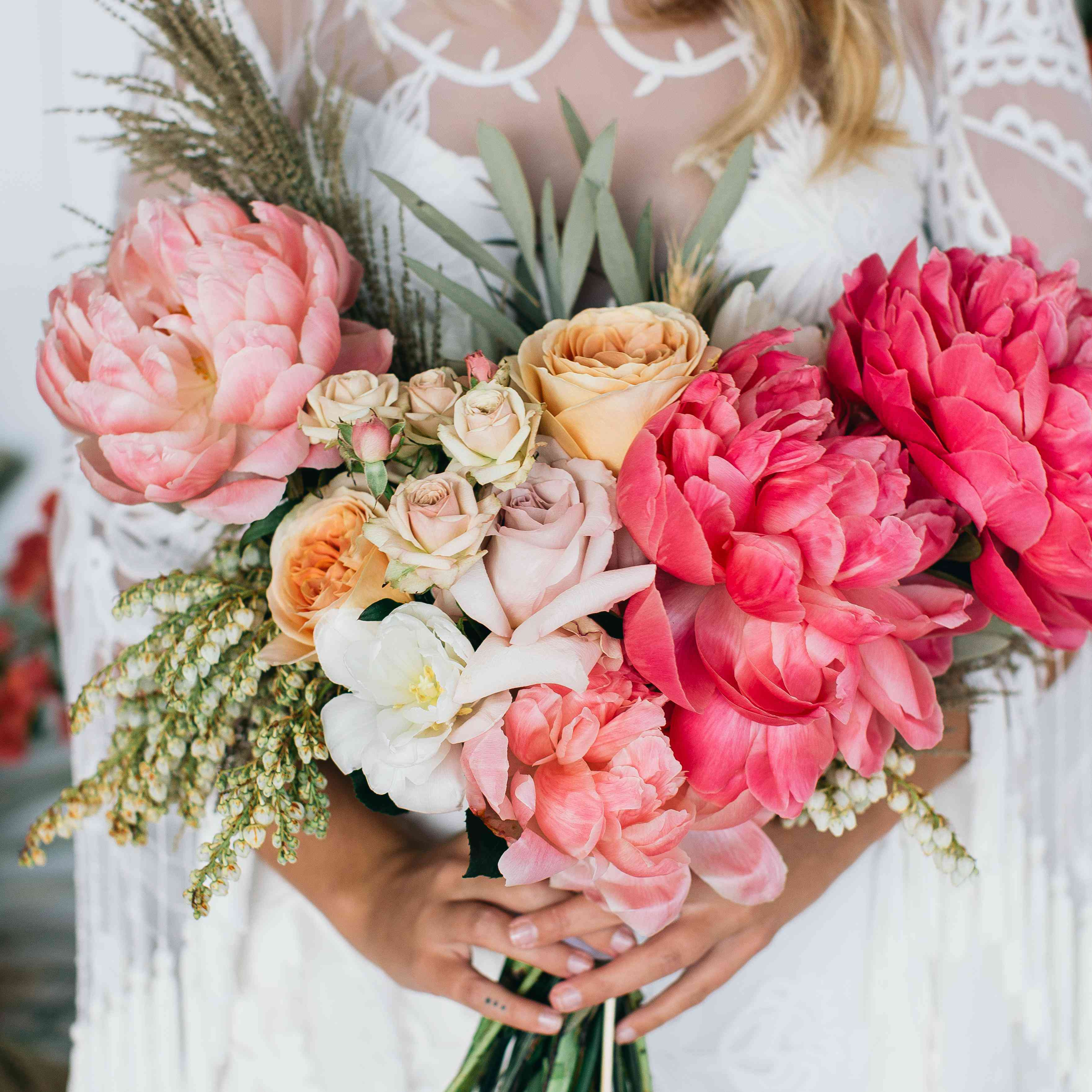 Low Budget Wedding Flowers: 40 Perfect Peony Wedding Bouquets