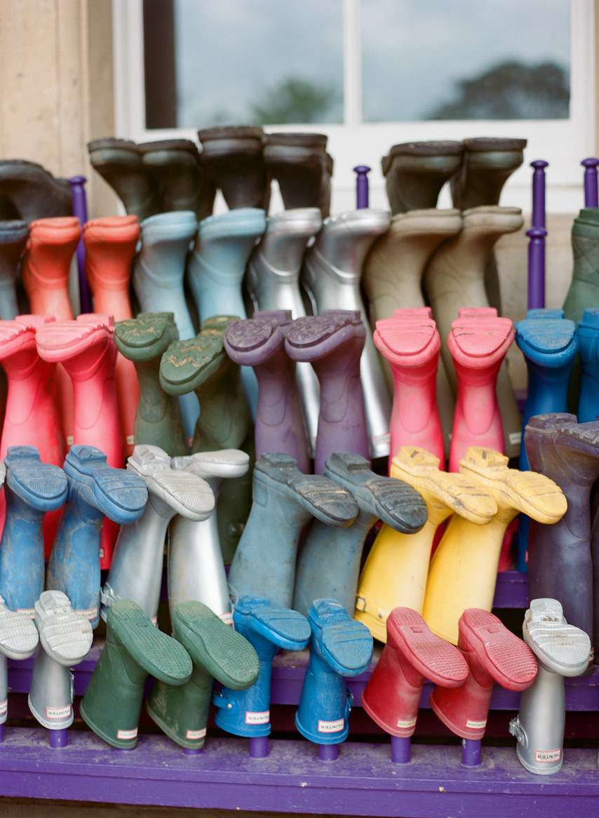 Colorful wellies