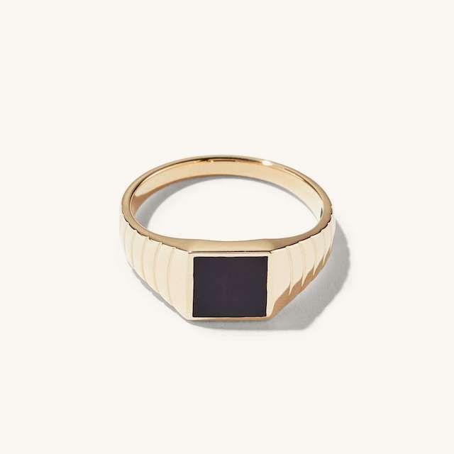 Mejuri Black Onyx Ring