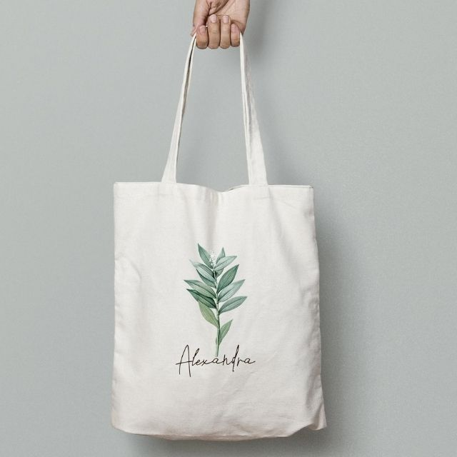 My Shirt Studio Watercolor Flower Botanical Tote from Etsy