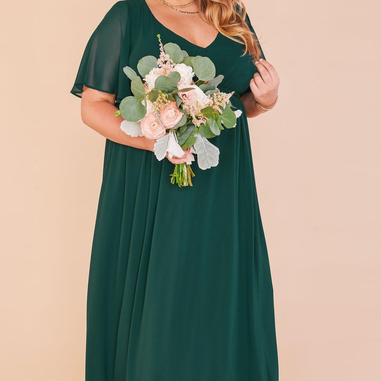 Mumu Weddings Emily Empire Maxi Dress $188