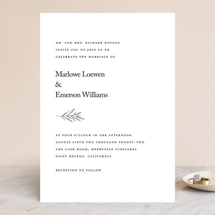 Minted Marlowe Wedding Invitation