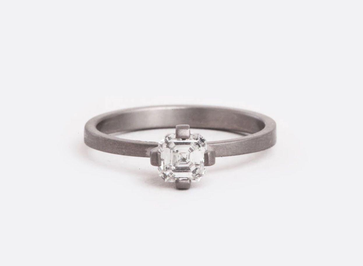 Lola Brooks Octagonal Diamond Engagement