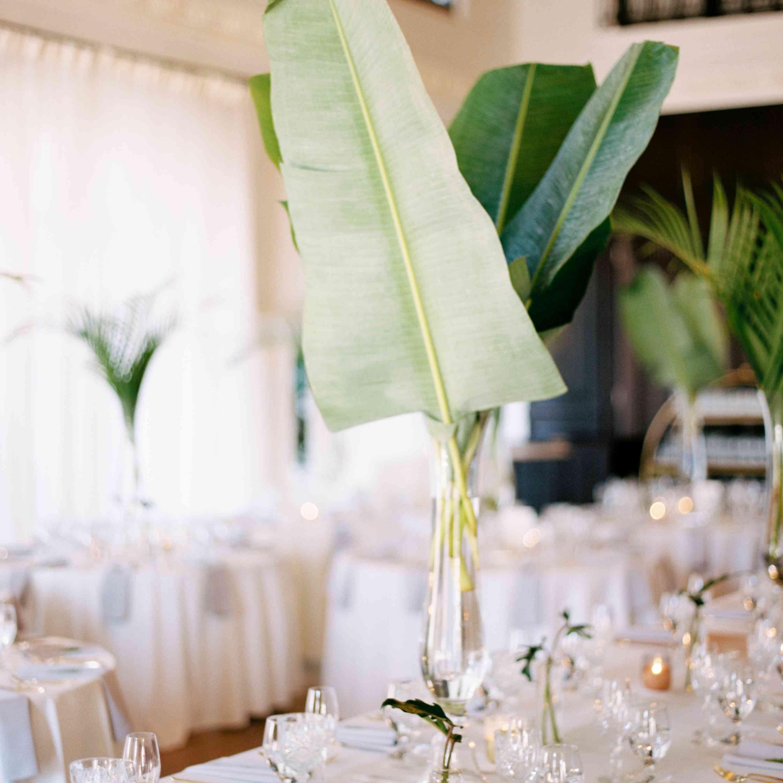 palm leaf decor no flowers