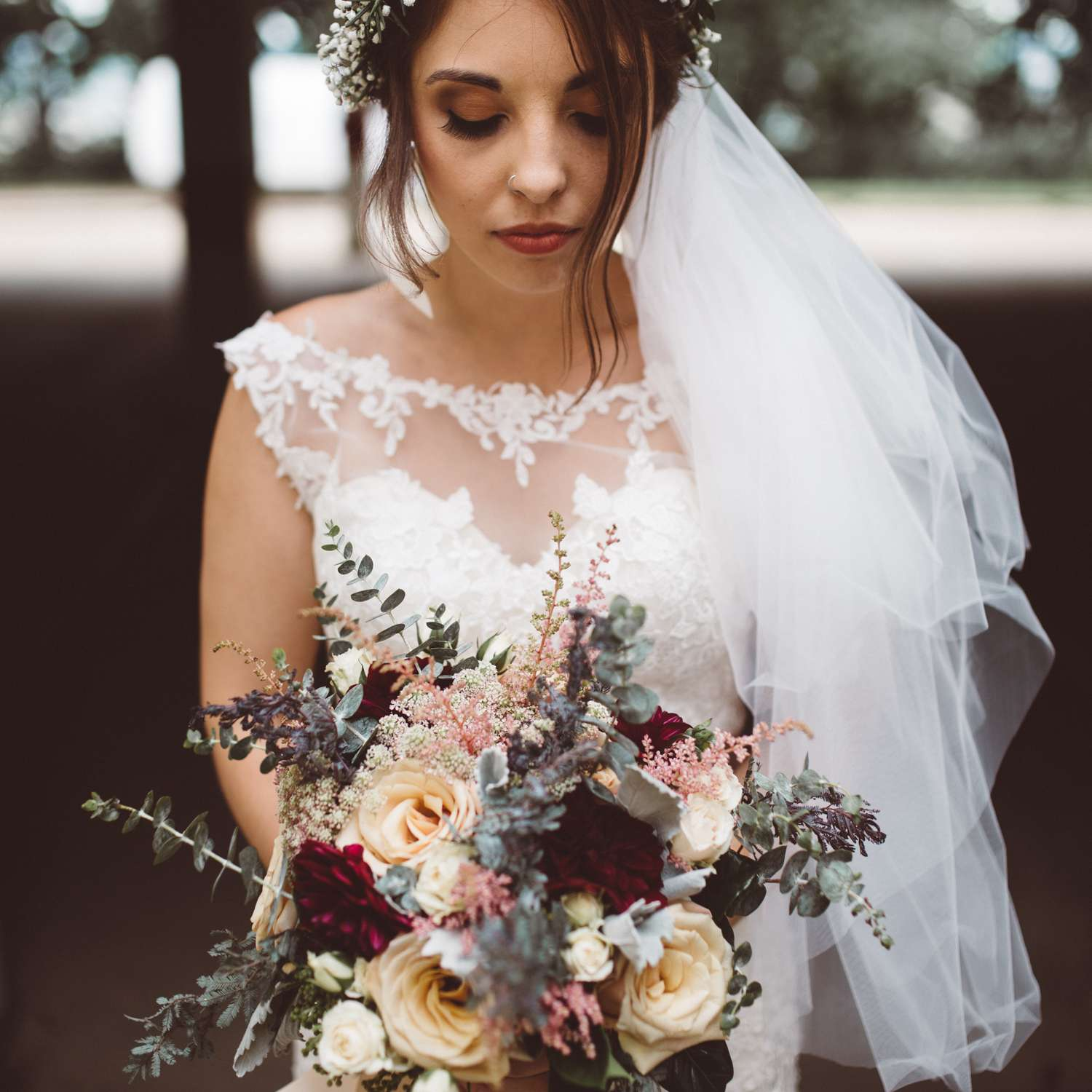 Fall Wedding Hairstyles With Flower Crown: 41 Whimsical Flower Crown Ideas For Your Wedding Hairstyle