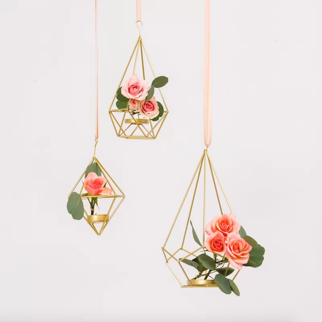 Tall Geometric Wedding Lantern