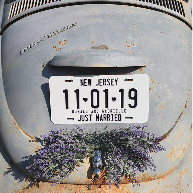 Wedding License Plate