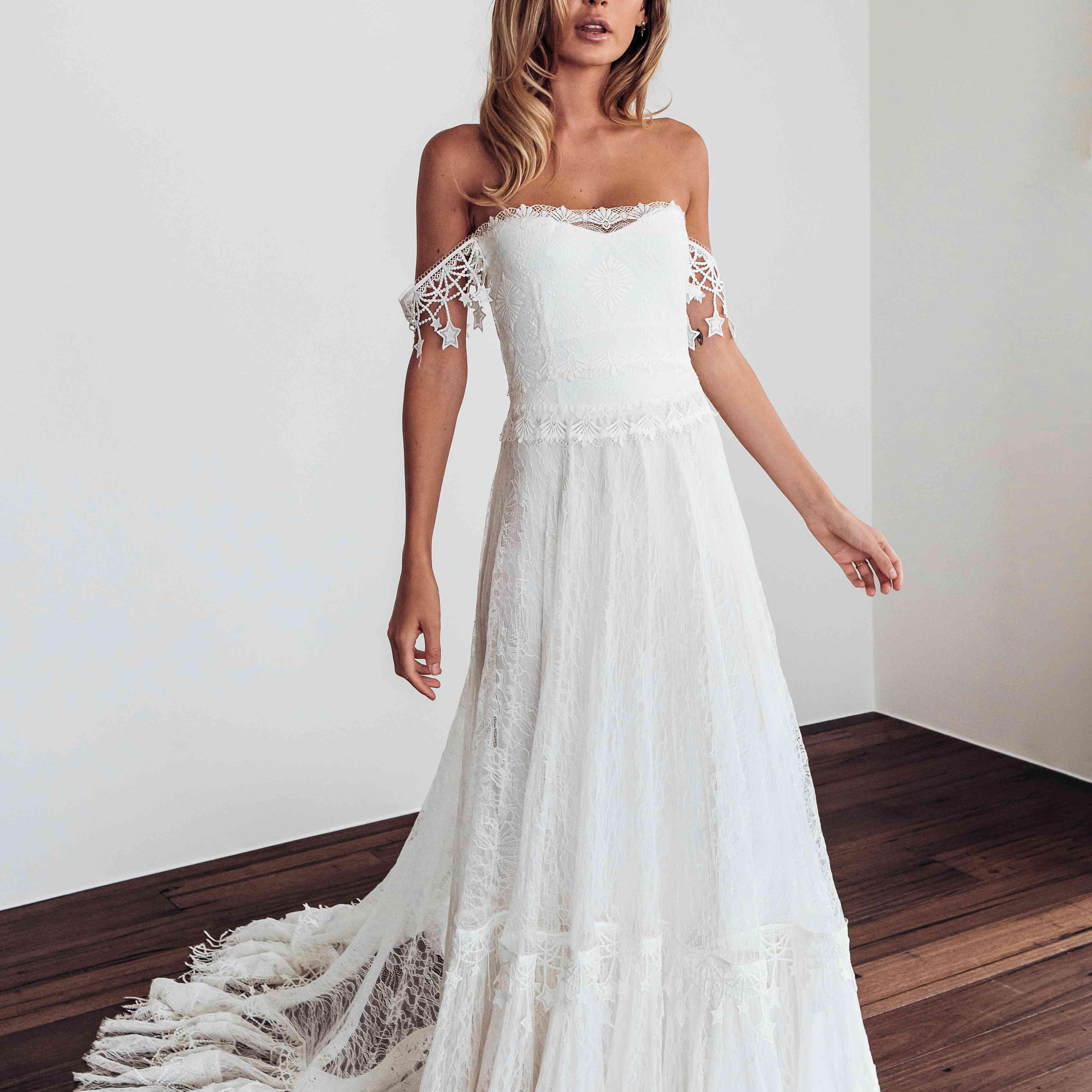 Fabienne off-the-shoulder wedding dress