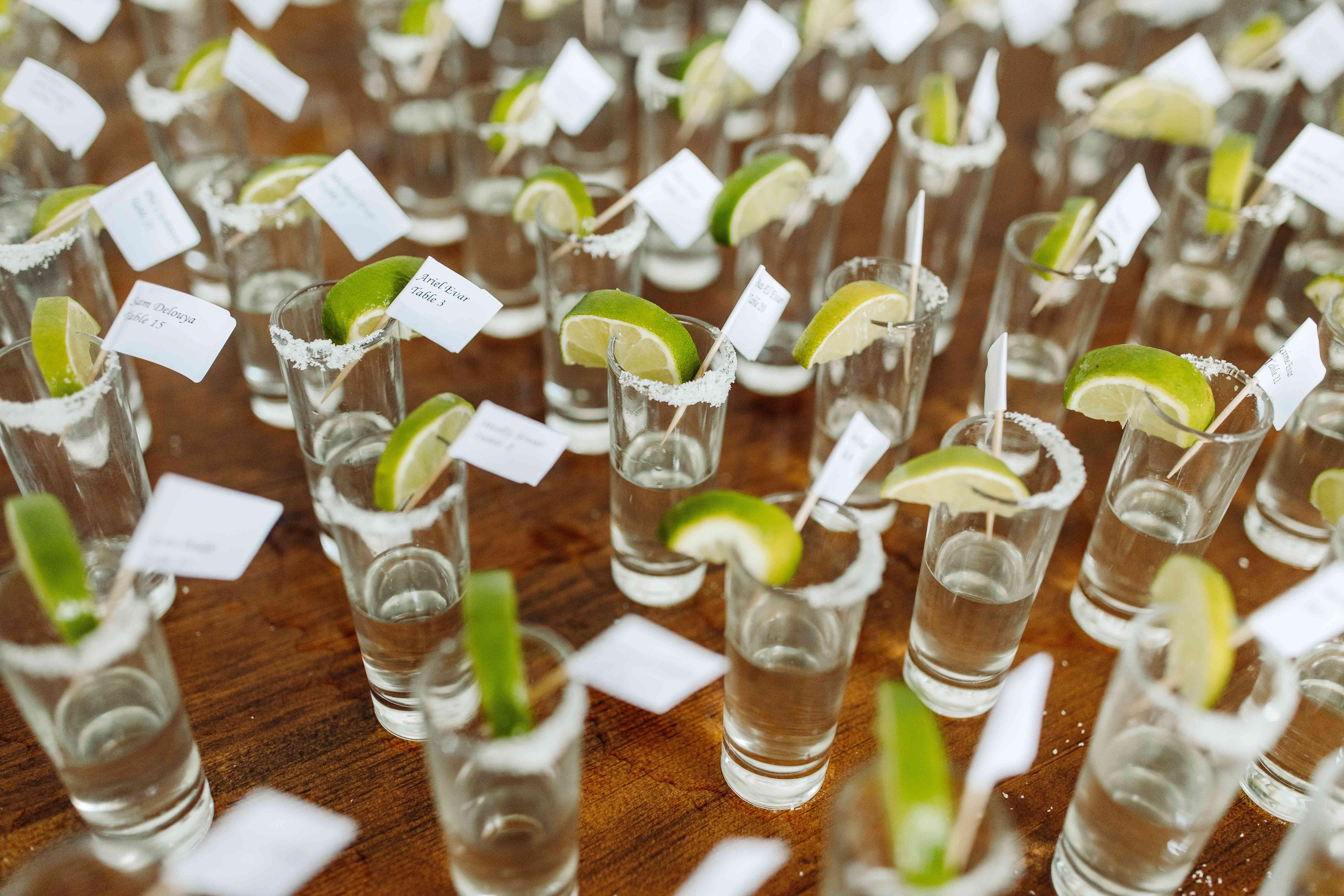 tequila shot escort cards