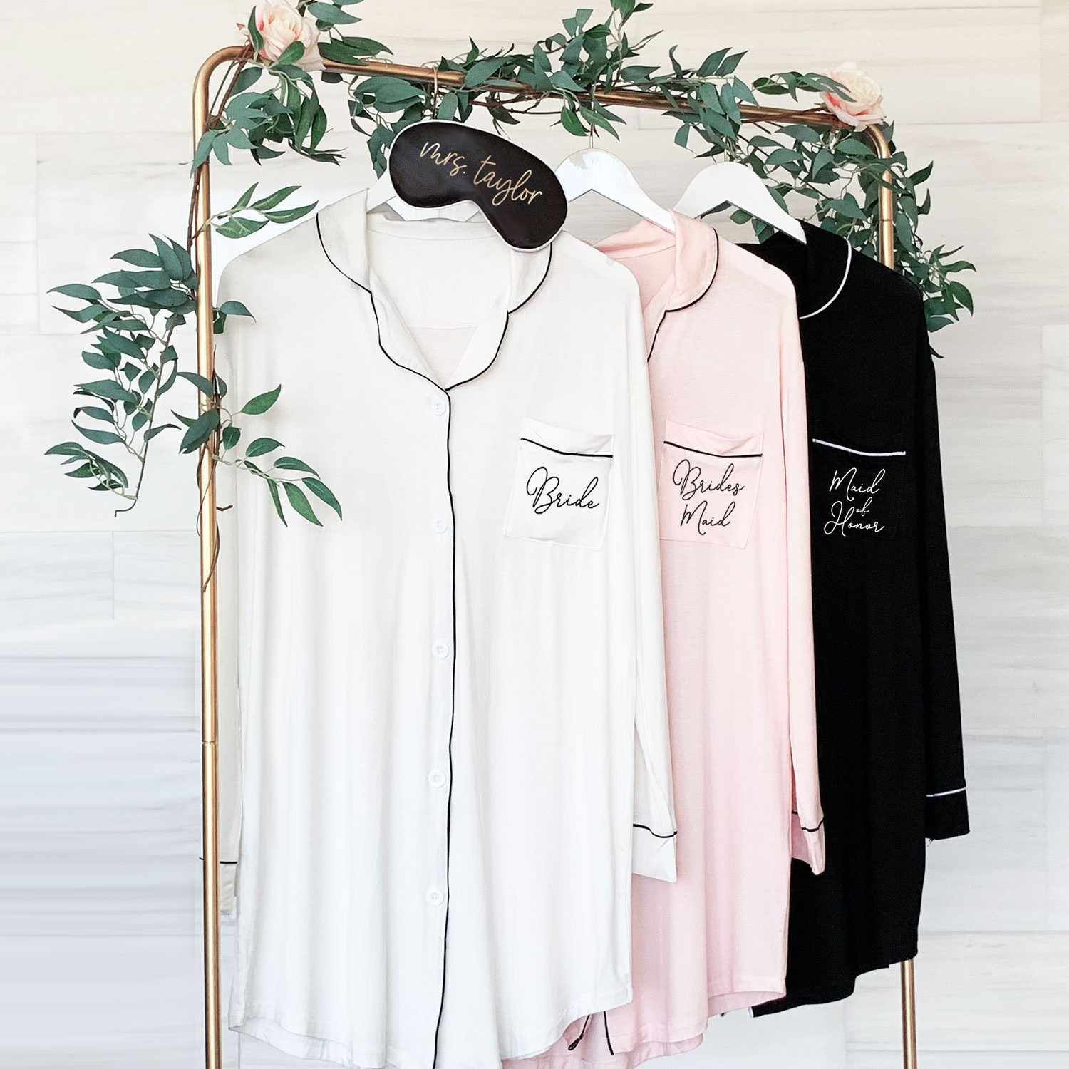 931d84f5b396a 13 Getting Ready Outfits for You and Your Bridesmaids—That Aren't Robes!